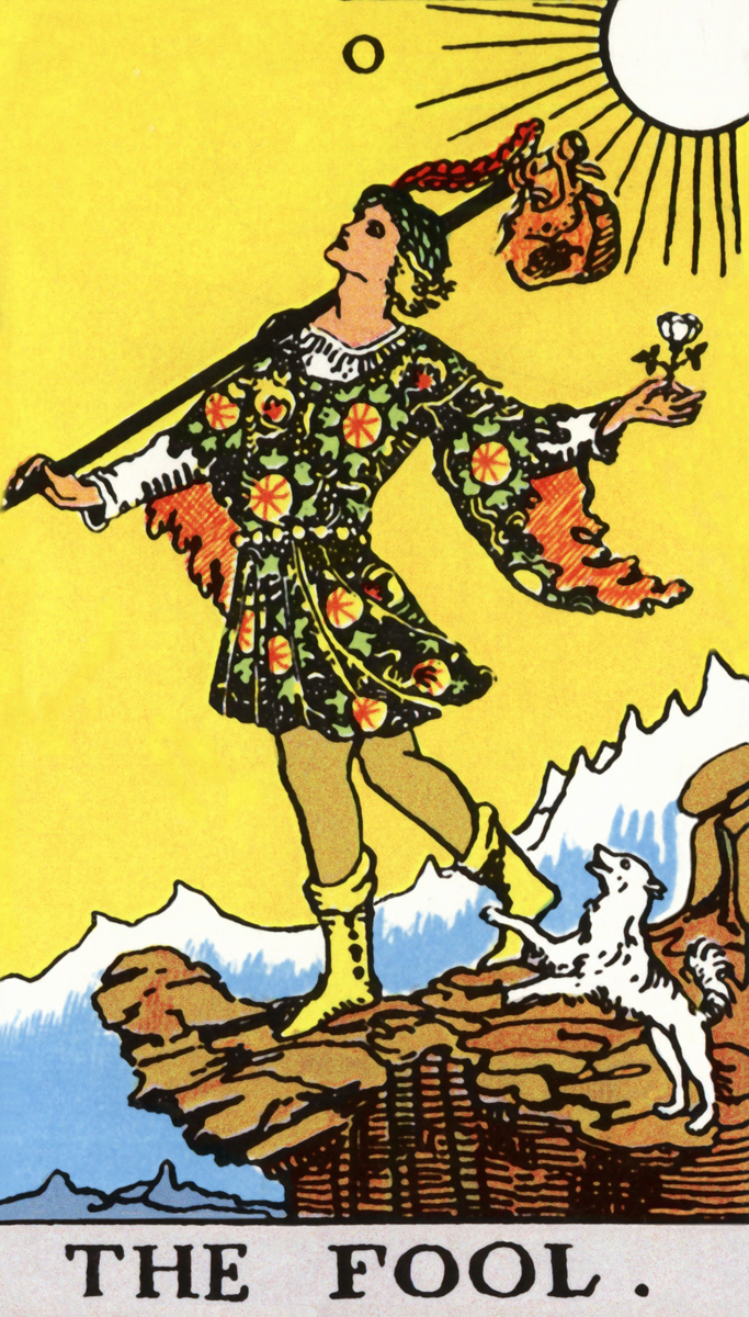 Rider Waite Tarot Cards Set Of 78 Cards By Patriciadmdesigns: Tarot Rider-Waite 0 The Fool