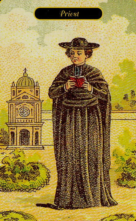 Gypsy Oracle Cards Old Woman: Gypsy Oracle Cards 40 Priest