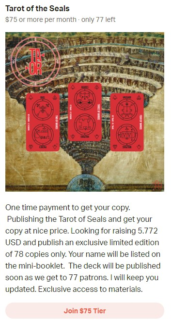 Tarot of the Seals - Join $75 Tier