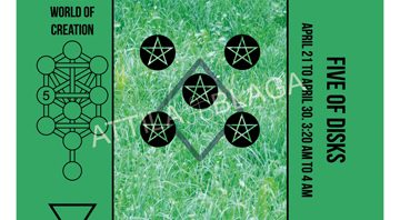 Traditional Divinatory Tarot, Five of Disks