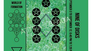 Traditional Divinatory Tarot, Nine of Disks