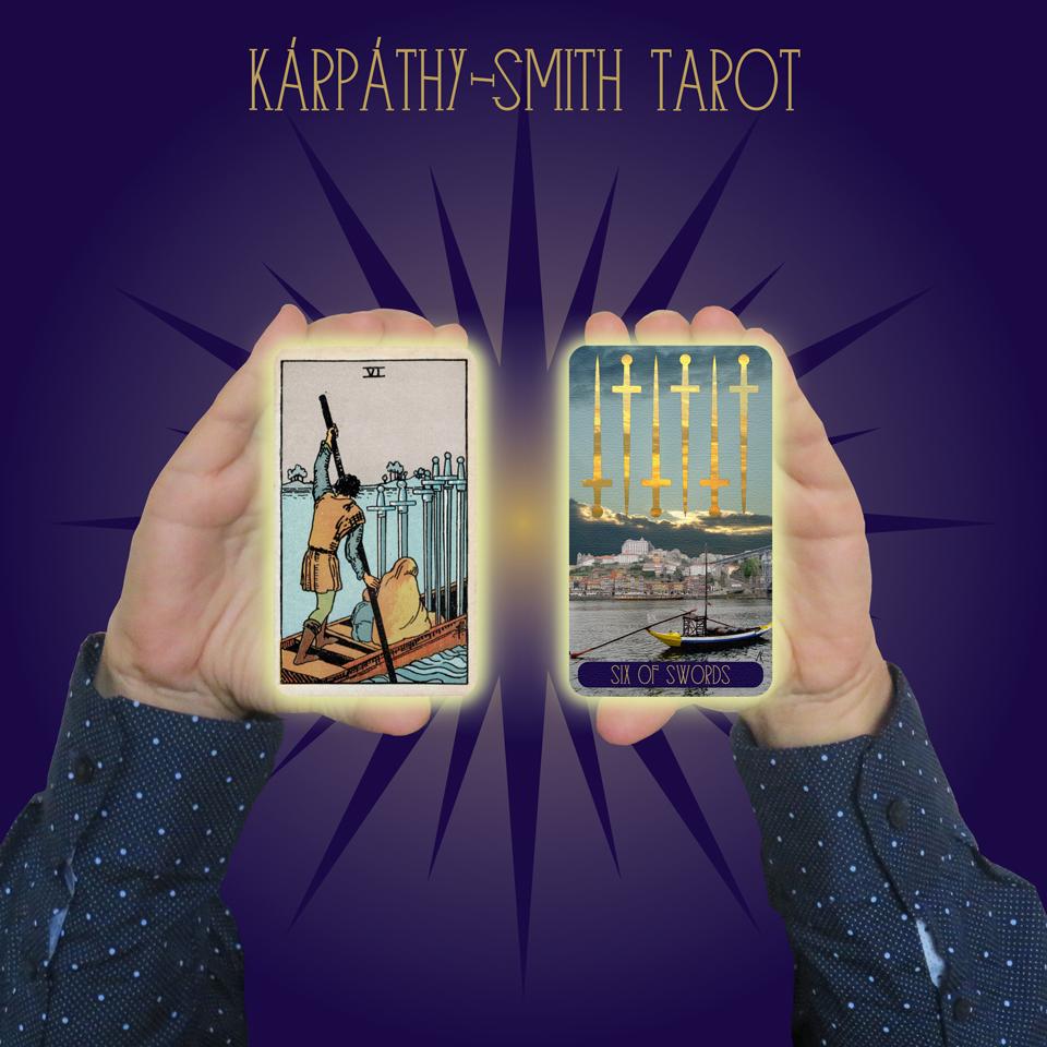 Karpathy-Smith Tarot Six of Swords